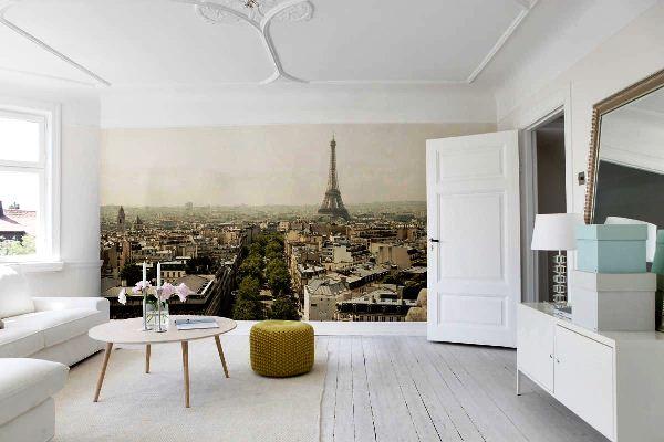 Париж фотообои в интерьере