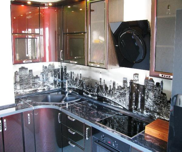 самоклеящиеся фотообои на кухне