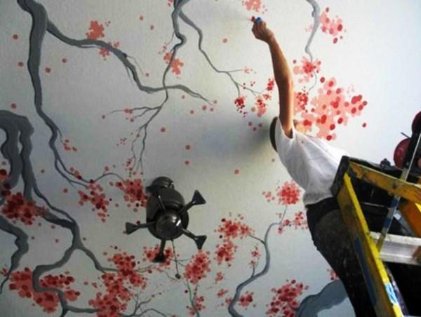 декоративная покраска потолка