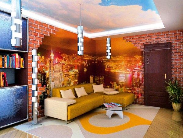 дизайн комнаты с фотообоями фото 2