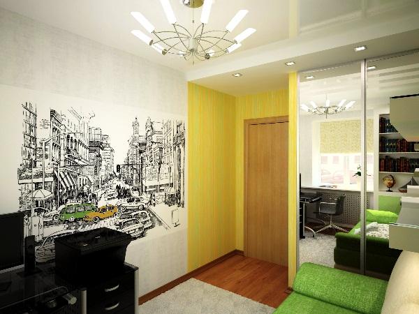 дизайн комнаты с фотообоями фото 7