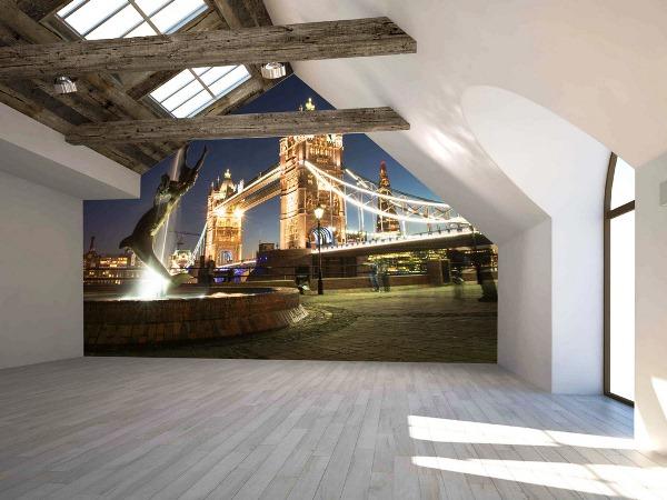 фотообои Лондон фонтан