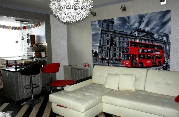 Использование фотообоев лондона для
