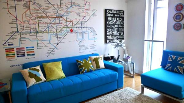 фотообои Лондон карта метро