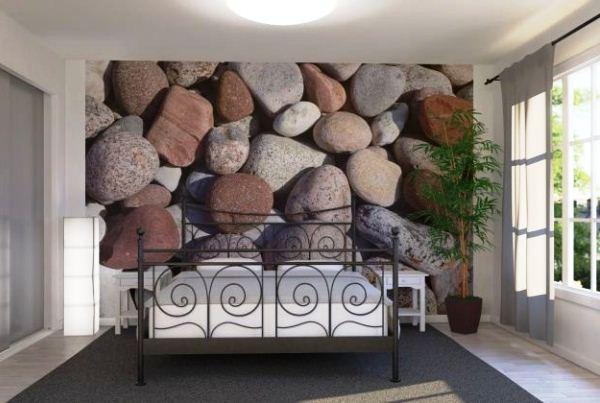 фотообои камни в интерьере