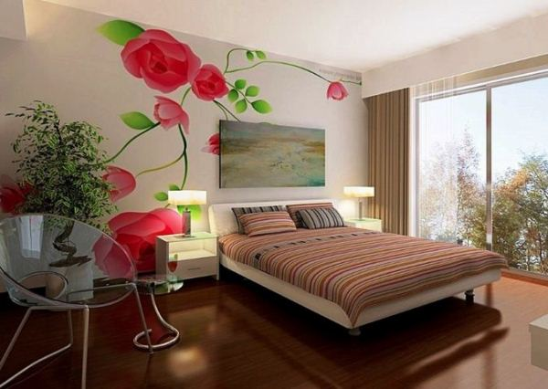фотообои красные розы в интерьере