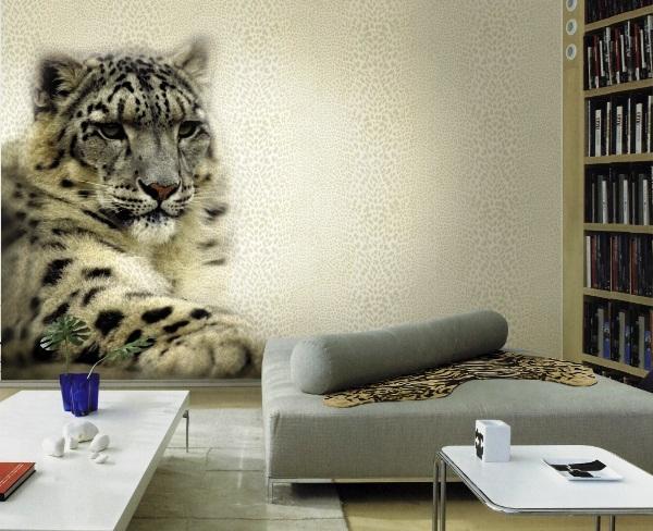 фотообои леопард в интерьере