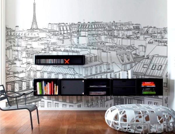 фотообои мегаполис Париж