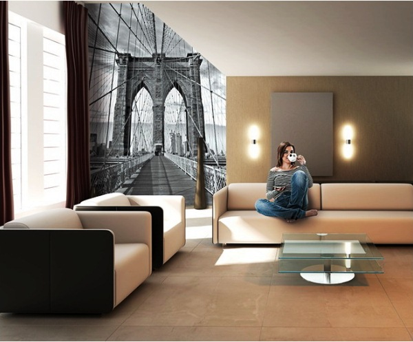 фотообои мост в интерьере фото 7