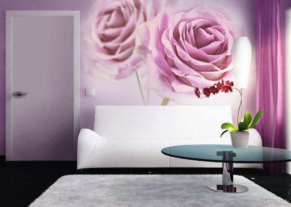 цветы фотообои розы