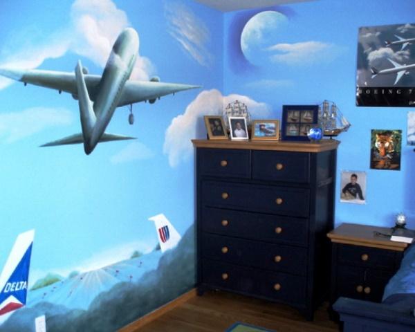 фотообои самолет