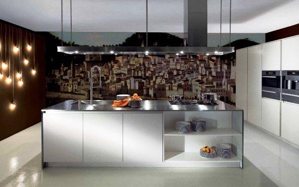 красивые фотообои на кухню