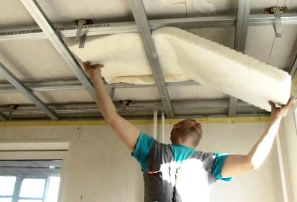 шумоизоляция под натяжной потолок 4