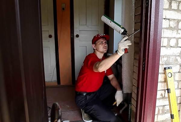 установка входной двери своими руками 7
