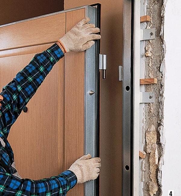 установка входной двери своими руками 9