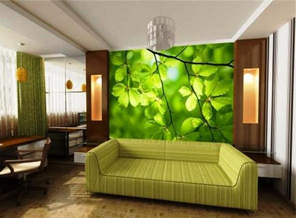 зеленые фотообои