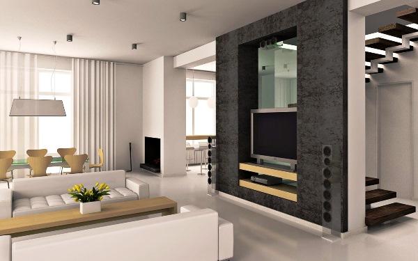 Проекты гостиных комнат фото