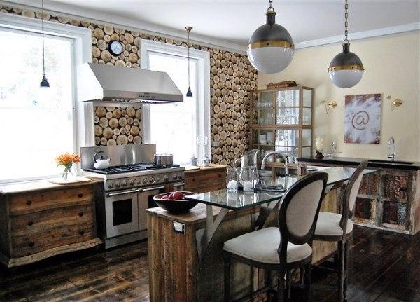 сочетание обоев на кухне фото 2