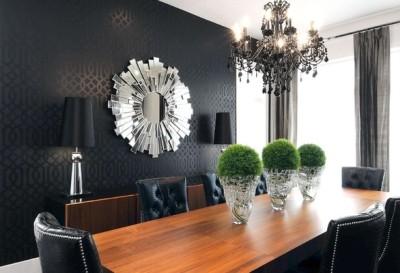 Черные обои: правила дизайна, удачные сочетания, варианты оформления интерьеров
