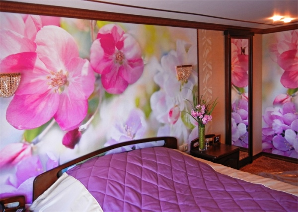 интерьер спальни с разными обоями фото 2