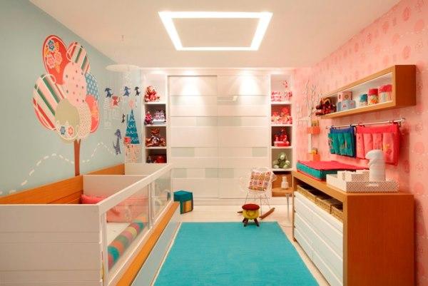 комбинированные обои для детской комнаты для разнополых детей фото