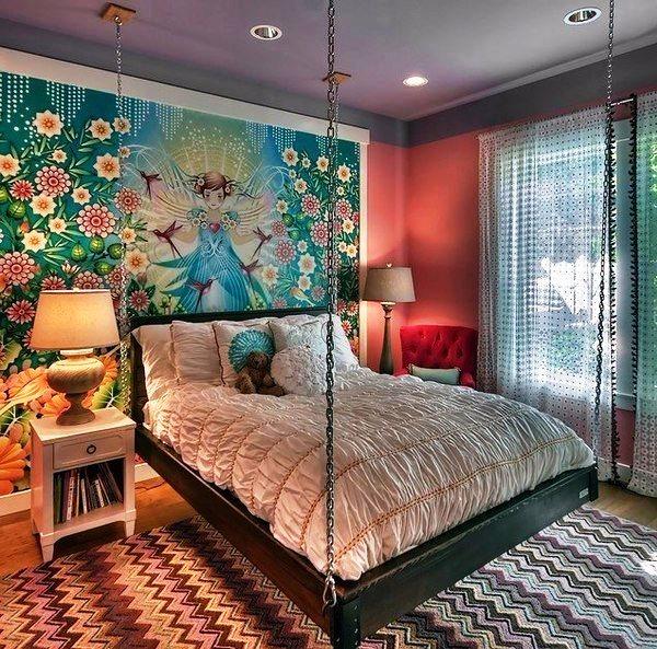 оклейка стен обоями двух цветов фото