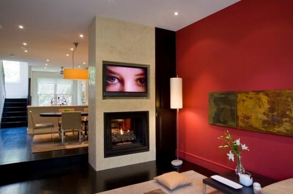 отделка стен обоями двух цветов фото