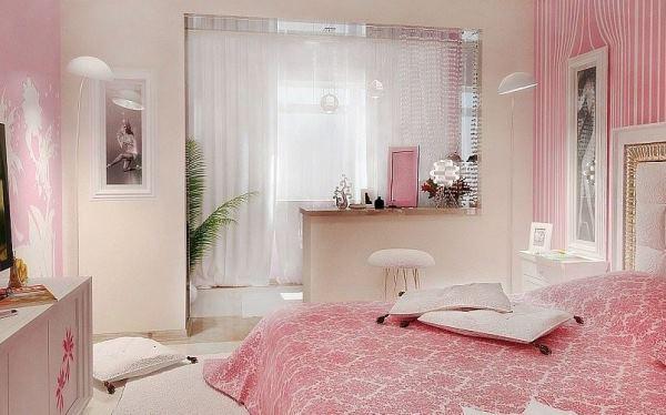 сочетание обоев в спальне фото 3