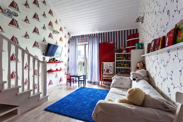 комнаты с белыми обоями фото