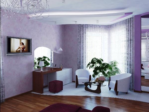 лиловые обои фото 5
