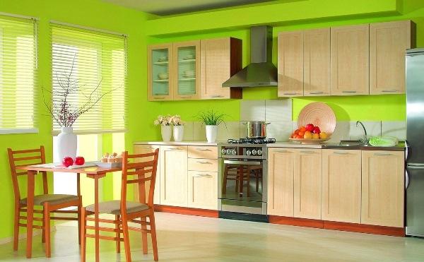 покраска обоев на кухне фото