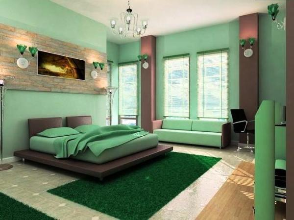 покраска обоев в спальне фото