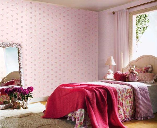розовые обои какие шторы фото