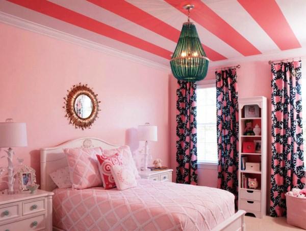 шторы к розовым обоям фото 3