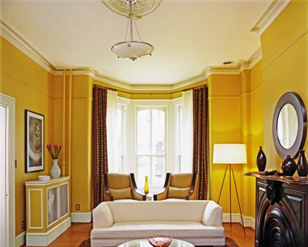 шторы од желтые обои фото 2