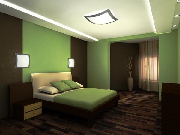 зеленые обои для спальни фото