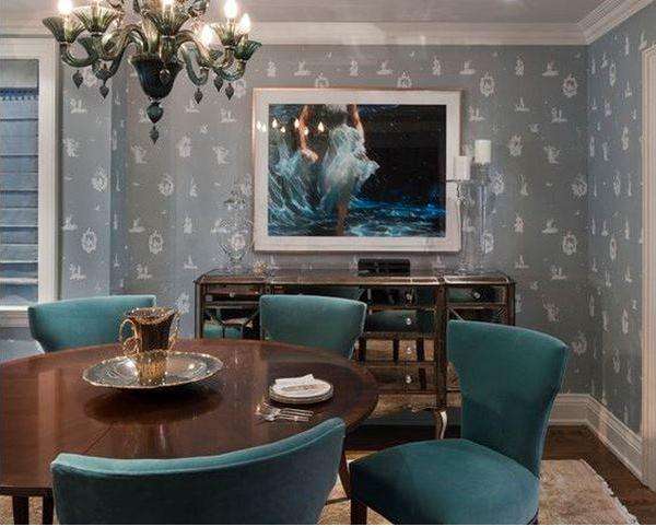 гостиная с серыми обоями фото