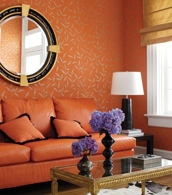 оранжевые обои фото 10