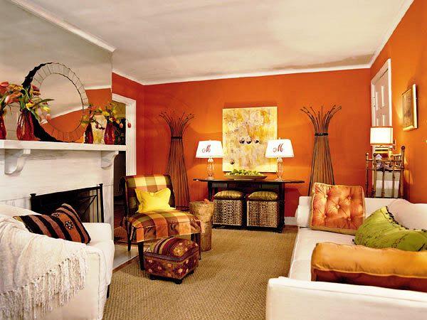 оранжевые обои фото 2