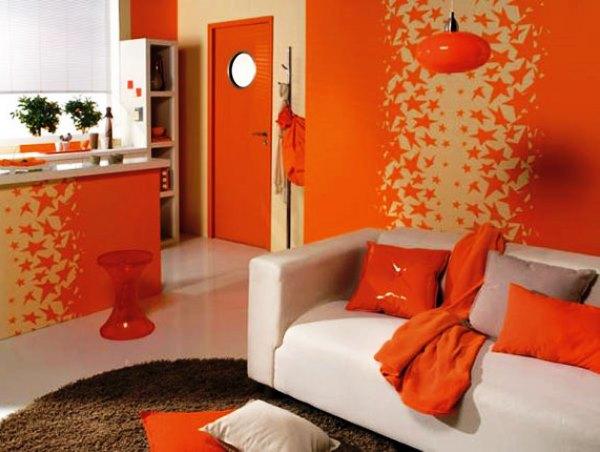 оранжевые обои фото 4