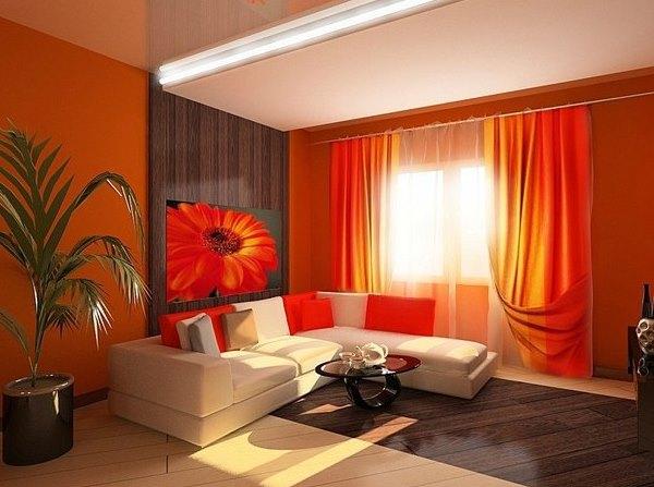 оранжевые обои фото 5