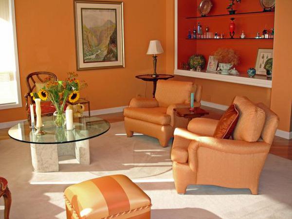 оранжевые обои фото 9
