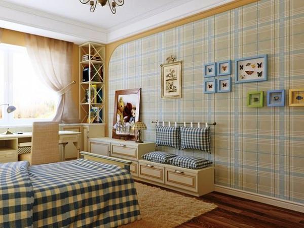 дизайн интерьера обои шторы только фото