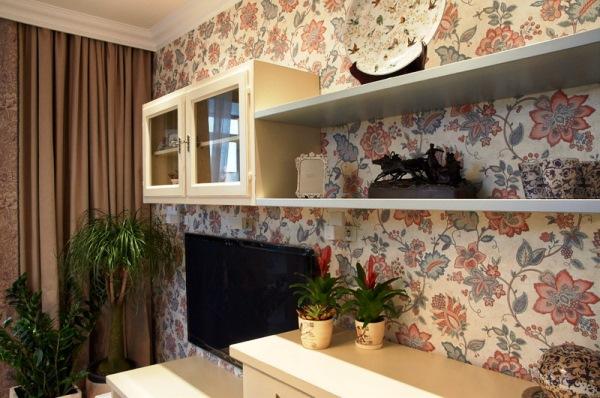 дизайн стен обоями в гостиной фото