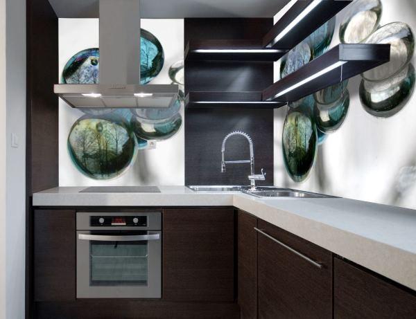 обои 3д на стену кухни фото