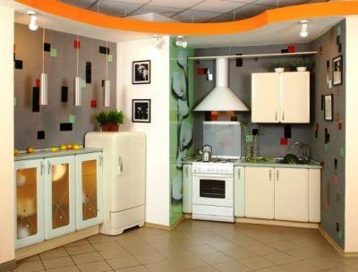 обои для кухни фото 2015 для маленькой кухни