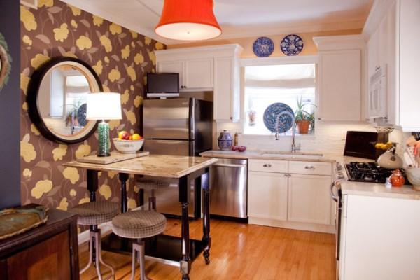 Обои для кухни фото 2015 для маленькой кухни Леруа Мерлен