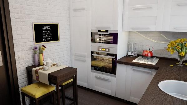 обои для маленькой кухни фото 10