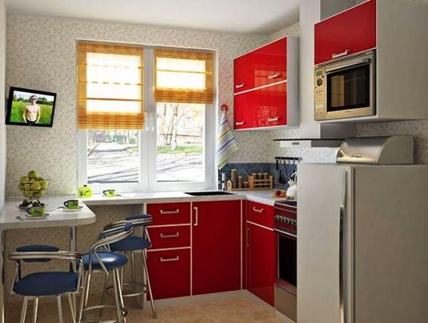 обои для маленькой кухни фото 12