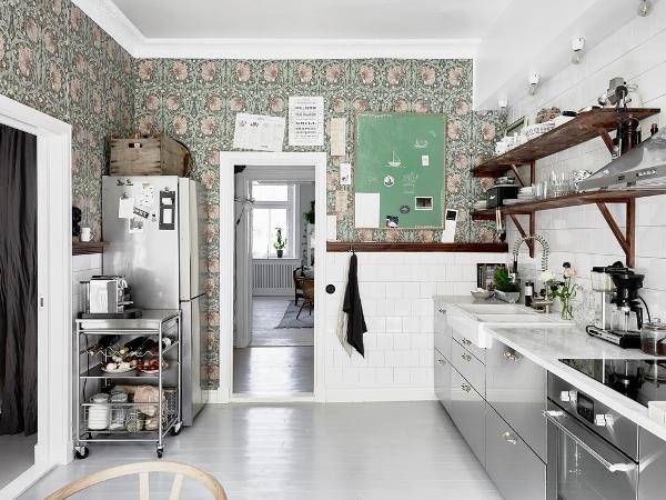 обои для маленькой кухни фото 8